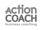 The logo of action coach who we did event marketing for.